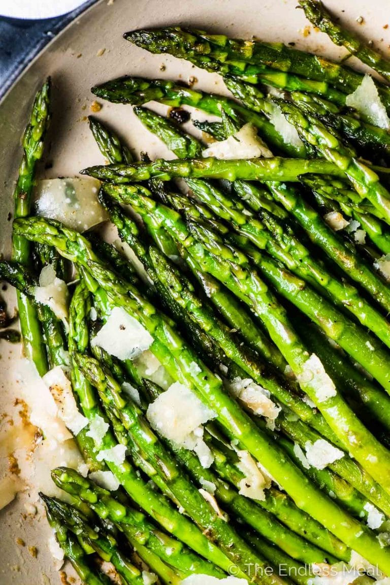 Sauteed Asparagus with Garlic and Parmesan